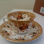 Чайная пара, фарфор, Англия, 19 век