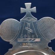 Старинный серебряный корец для теплоты и вина большого размера. Россия, Москва, фабрика