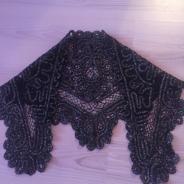 косынка, плетение коклюшками 1968г.