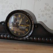 Большие каминные часы с четвертным боем 82 см