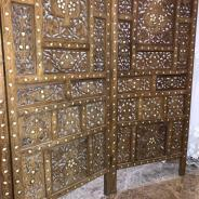 деревянная ширма ручной работы конец 19-начало 20в Иран эпоха Каджар