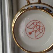 Олимпийский сувенирный самовар с чайником Гжель 1980г